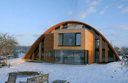 The Crossways Eco Arch house was designed by Richard, who is an ...
