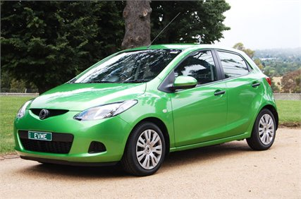 The Evme Electric Car Is An Australian Designed Based On A Mazda2 Small