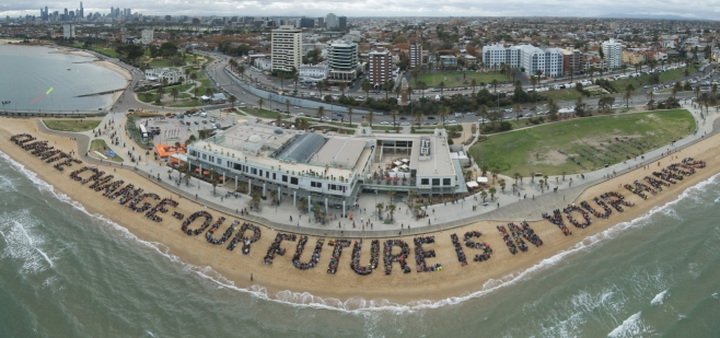 Image:Climate change human sign stkilda beach Cloud9.jpg