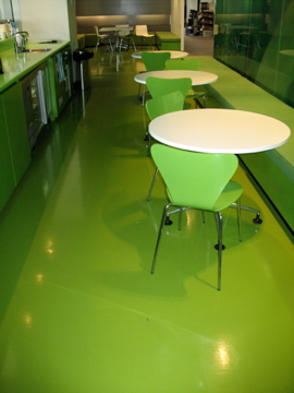 Dalsouple green rubber flooring installed at Deacons Law Firm in Melbourne