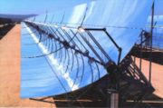Large scale parabolic reflectors