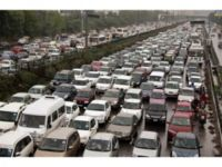 Delhi traffic jam during power outage