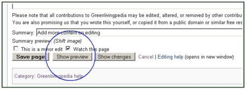 Preview your changes by clicking on the Show preview button
