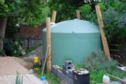 Round water tank (12,500 litre) with pump