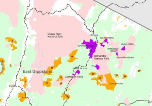 Proposed new parks and reserves in East Gippsland