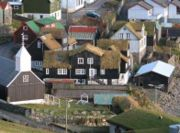 Green roofs in Bour, Faroe Islands