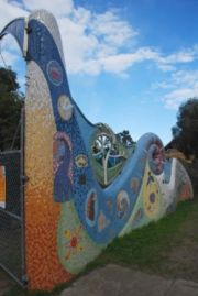 Mosaic entrance gate
