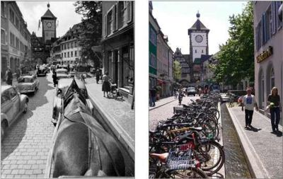 Schwabentor 1950 and today