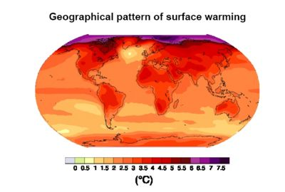 Projected surface temperature changes for the late 21st century (2090-2099) Source: IPCC Report 4
