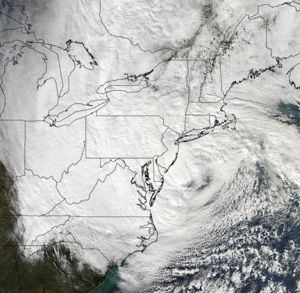 Hurricane Sandy at United States coast