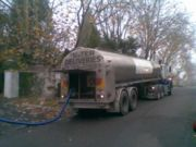 Water tanker filling a pool in Camberwell