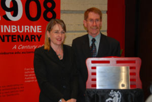 Minister Jacinta Allan and Swinburne Vice Chancellor Professor Ian Young at the launch