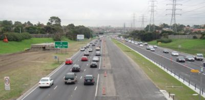 Monash freeway traffic