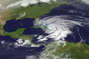 Hurricane Sandy over the Caribbean